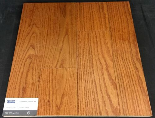 Golden Northern Red Oak Engineered Hardwood Flooring (Click)