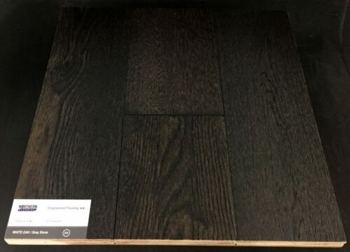 Grey Stone Northern White Oak Wire Brush Engineered Hardwood Flooring (T/G)