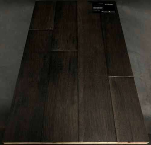 HAILSTORM GREY BRAND COVERINGS HICKORY HARDWOOD FLOORING