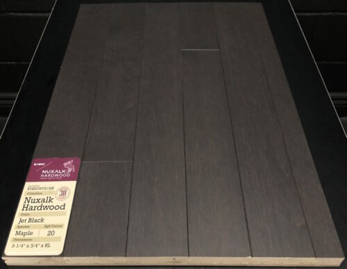 JET BLACK NUXALK MAPLE HARDWOOD FLOORING