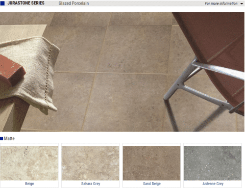 Jurastone Series Matte Glazed Porcelain Tiles – Color: Beige, Sahara Grey, Sand Beige, Ardenne Grey – Size: 13×13