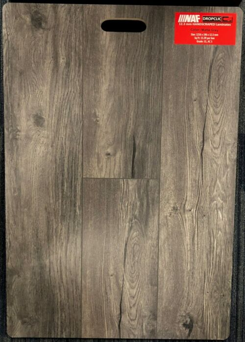 Matte Grey NAF 12.3mm Laminate Flooring Dropclic e1530825171954 scaled 1 1