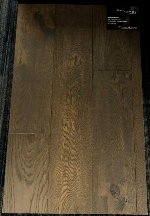 Midtown Brown Brand Surfaces Oak Handscraped Engineered Hardwood Flooring 1 1