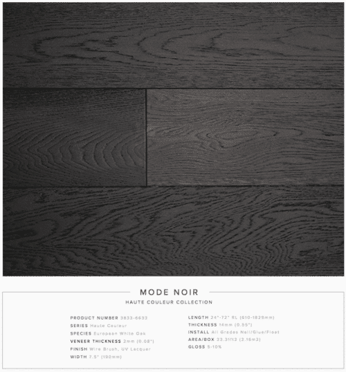 Mode Noir Pravada Haute Couleur Collection European White Oak Engineered Floors 1