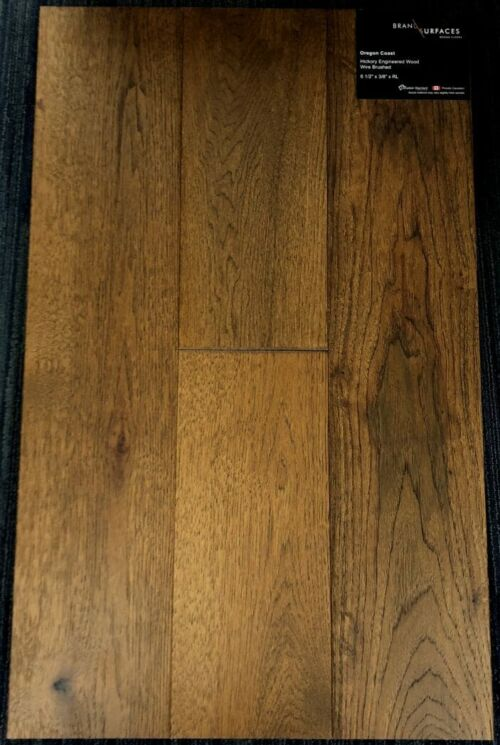 Oregon Coast Brand Surfaces Hickory Wirebrushed Engineered Hardwood Flooring
