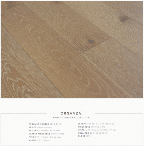 Organza Pravada Haute Couleur Collection European White Oak Engineered Floors 1