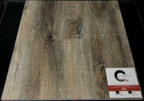 PUTTY 5.2MM STONEWEAR+ SPC VINYL PLANK FLOORING WITH PAD