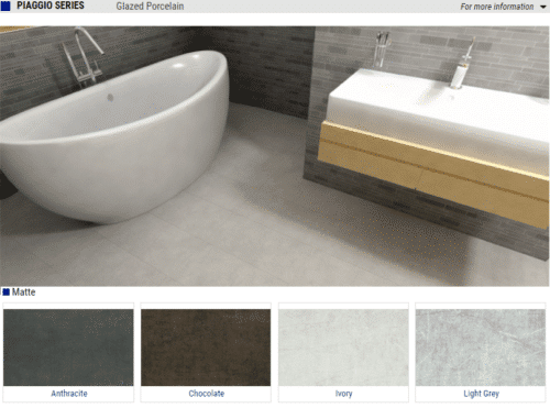 Piaggio Series Matte Glazed Porcelain Tiles Color Anthracite Chocolate Ivory Light Grey Size 12x24 1 1