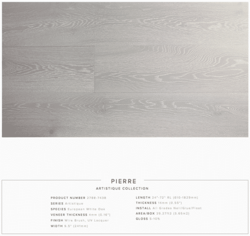 Pierre Pravada Artistique Collection Oak Engineered Hardwood Floors 1