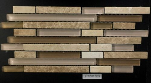 SGM 273 Glass and Stone Mosaic Backsplash