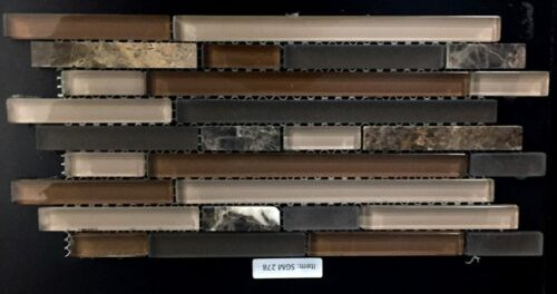 SGM 278 Glass and Stone Mosaic Backsplash