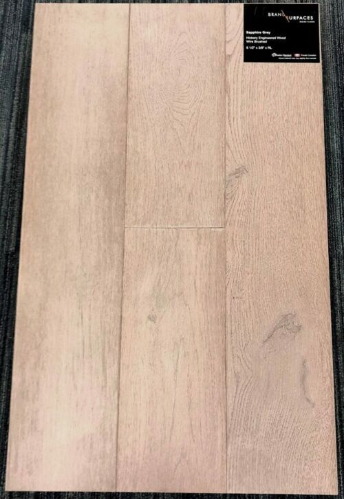 Sapphire Grey Brand Surfaces Hickory Wirebrushed Engineered Hardwood Flooring