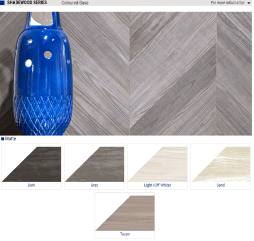 Shadewood Series Matte Wood Look Porcelain Tiles Color Dark Grey Light Off White Sand Taupe Size 4x20 1 1