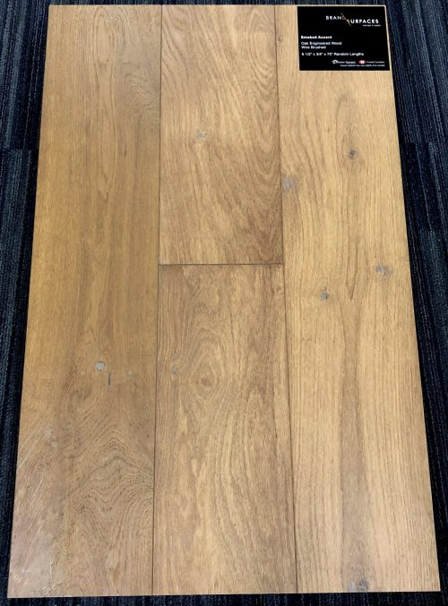 Smoked Accent Brand Surfaces Oak Wirebrushed Engineered Hardwood Flooring scaled 2 1