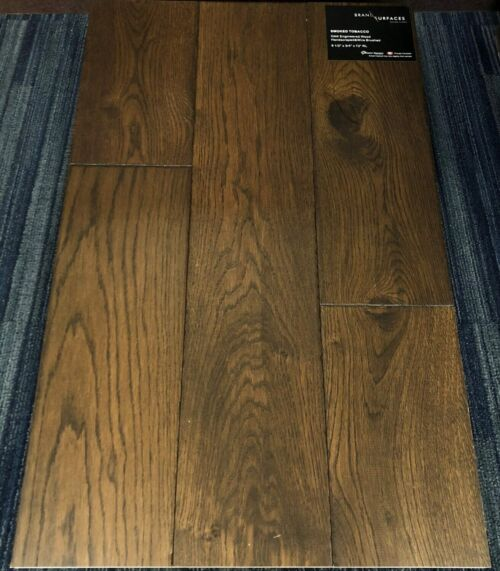 Smoked Tobacco Brand Surfaces Oak Handscraped Wire Brush Engineered Flooring e1523977410115 scaled 1 1