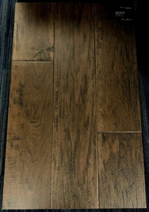 Smoked Tree Brand Surfaces Hickory Handscraped Engineered Hardwood Flooring
