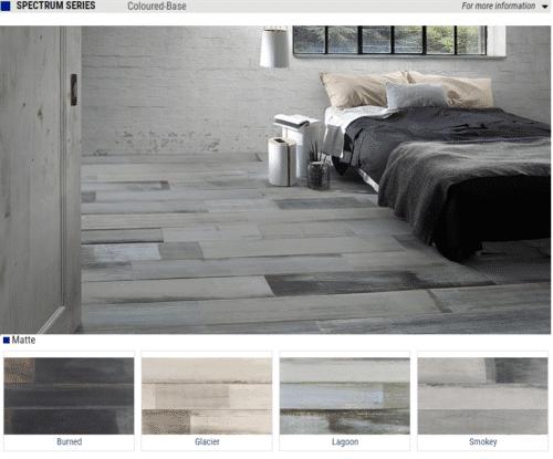 Spectrum Series Matte Wood Look Porcelain Tiles Color Burned Glacier Lagoon Smokey Size 8x48 1 1