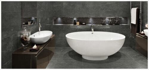 Stark Carbon Marble Tile – Anatolia