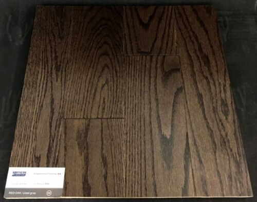 Steel Grey Northern Red Oak Engineered Hardwood Flooring (Click)
