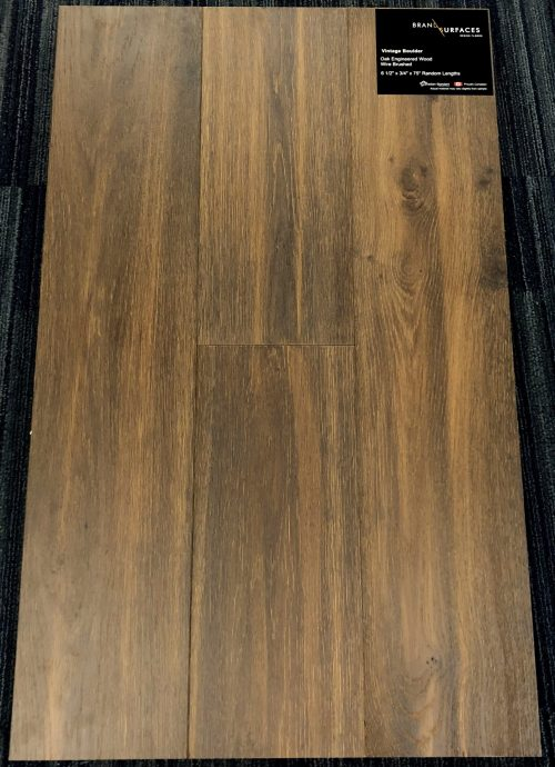 Vintage Boulder Brand Surfaces Oak Wirebrushed Engineered Hardwood Flooring scaled 1 1