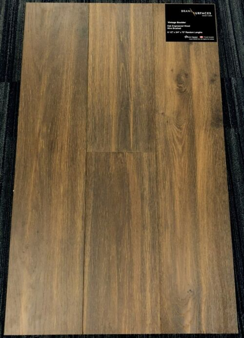 Vintage Boulder Brand Surfaces Oak Wirebrushed Engineered Hardwood Flooring