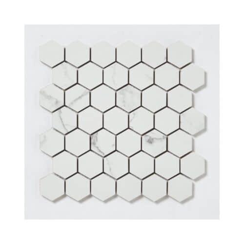 32STM018 Skyline Honed Hexagon Marble Mosaics