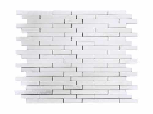 3STM002 Pure White and Crystal White Splitface Marble Mosaics