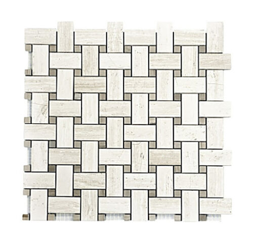 3STM029 Escarpment with Brushed Stainless Steel Strip Mosaics