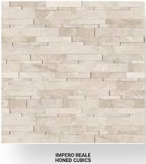6×24 Impero Reale Marble Honed Cubics Ledgerstone 72-613