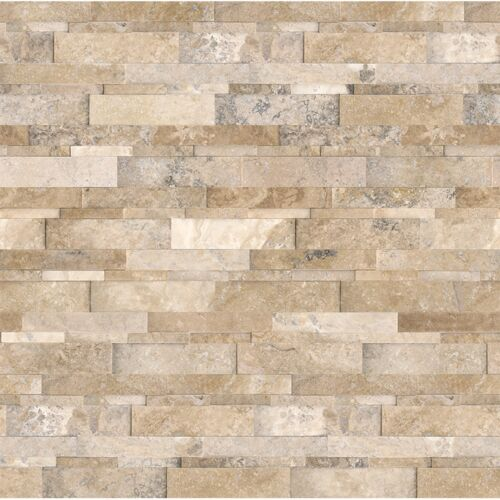 6×24 Picasso Travertine Honed Cubics Ledgerstone 73-361