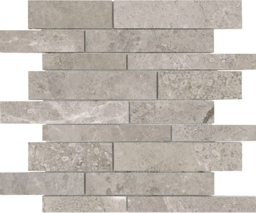 6×24 Ritz Gray Marble Honed Cubics Ledgerstone 72-614