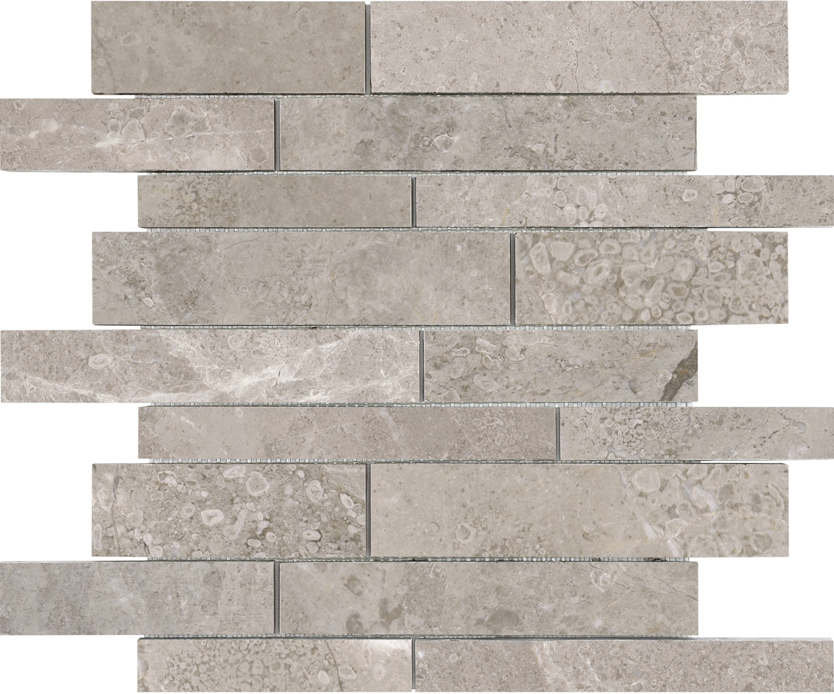 6x24 Ritz Gray Marble Honed Cubics Ledgerstone 72 614