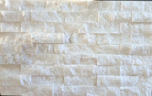 6×12 Carrera Marble Split-face Wall Cladding Ledgerstone
