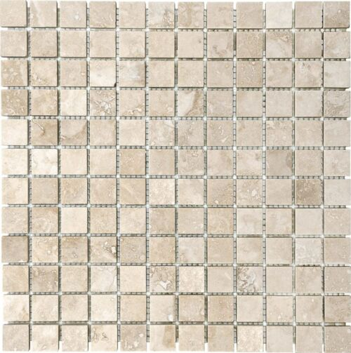 IVORY 76 338 1X1 FILLED AND HONED TRAVERTINE MOSAICS scaled 1