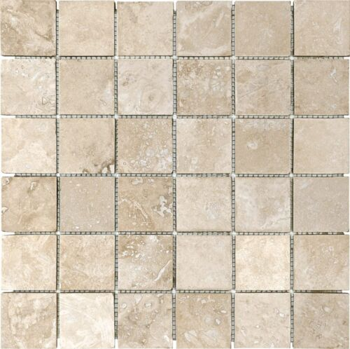 IVORY 76 339 2X2 FILLED AND HONED TRAVERTINE MOSAICS scaled 1
