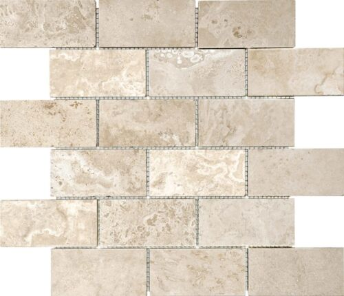 IVORY 76 340 2X4 FILLED AND HONED TRAVERTINE MOSAICS scaled 1