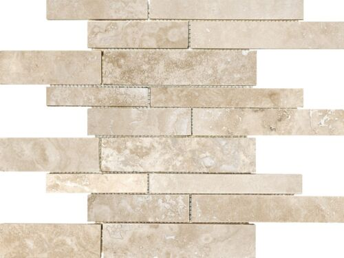 IVORY 76 342 RANDOM STRIP FILLED AND HONED TRAVERTINE MOSAICS scaled 1